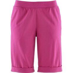 Spodnie dresowe damskie: Bermudy dresowe bonprix fuksja