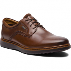 Półbuty CLARKS - Un Geo LaceGtx GORE-TEX 261380417 Brown Leather. Brązowe buty wizytowe męskie Clarks, z gore-texu. Za 589,00 zł.