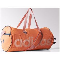 Torby podróżne: Adidas S22034  Torba + Worek Na Buty pomarańczowa (75922)