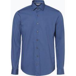 Calvin Klein - Koszula męska two ply – Bari, niebieski. Pomarańczowe koszule męskie marki Calvin Klein, l, z bawełny, z okrągłym kołnierzem. Za 199,95 zł.