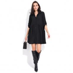 Fille Du Couturier Sukienka Damska Oriane 40 Czarny. Czarne sukienki Fille Du Couturier, z koszulowym kołnierzykiem, koszulowe. Za 209,00 zł.