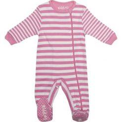 Pajacyki niemowlęce: Śpiochy w kolorze biało-różowym