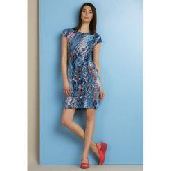 Sukienki: Wzorzysta sukienka midi