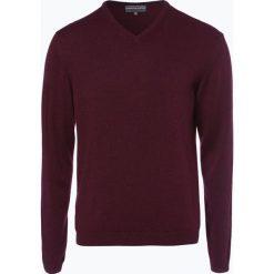 Finshley & Harding - Sweter męski z kaszmiru i jedwabiu, czerwony. Czarne swetry klasyczne męskie marki Finshley & Harding, w kratkę. Za 299,95 zł.