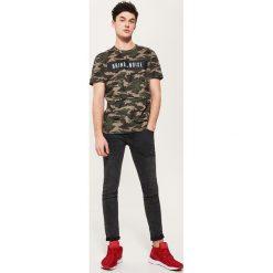 T-shirty męskie: T-shirt camo – Khaki
