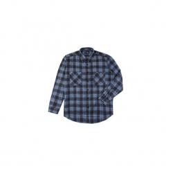 Koszula męska klasyczna, Z KOŁNIERZEM, z kieszonkami casual flanelowa. Niebieskie koszule męskie marki bonprix, m, z nadrukiem, z klasycznym kołnierzykiem, z długim rękawem. Za 29,99 zł.