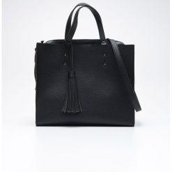 Shopper bag damskie: Duża torba typu shopper - Czarny