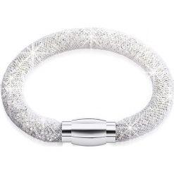 Bransoletki damskie na nogę: Bransoletka ze szklanymi kryształkami