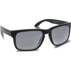 Okulary przeciwsłoneczne OAKLEY - Holbrook OO9102-D655 Matte Black/Prizm Black Polarized. Czarne okulary przeciwsłoneczne męskie aviatory Oakley, z tworzywa sztucznego. W wyprzedaży za 649,00 zł.
