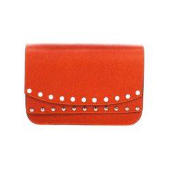 Torebki klasyczne damskie: Skórzana torebka w kolorze pomarańczowym – (S)23 x (W)15 x (G)8 cm
