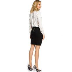 HEIDI Klasyczna spódniczka ołówkowa z zamkiem - czarna. Czarne spódnice wieczorowe marki Moe, z dzianiny, midi, ołówkowe. Za 59,90 zł.