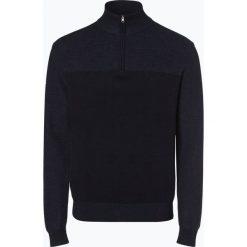 Nils Sundström - Sweter męski, niebieski. Szare swetry klasyczne męskie marki Recman, m, z kołnierzem typu troyer. Za 179,95 zł.