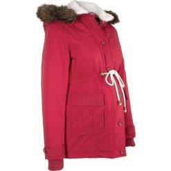 Kurtka ciążowa zimowa bonprix ciemnoczerwony. Czerwone kurtki ciążowe marki bonprix, na zimę, z polaru. Za 99,99 zł.