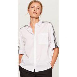 Koszula z taśmami - Biały. Brązowe koszule damskie marki Mohito, m. Za 89,99 zł.