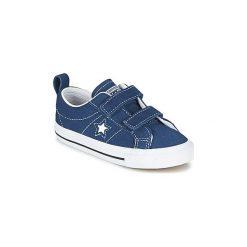 Buty Dziecko Converse  CONVERSE ONE STAR 2V - OX. Niebieskie trampki chłopięce Converse, retro. Za 125,30 zł.
