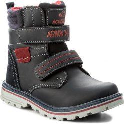 Buty zimowe chłopięce: Trapery ACTION BOY – CP40-6342Y Granatowy
