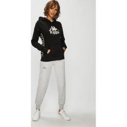 Kappa - Bluza. Szare bluzy damskie Kappa, l, z aplikacjami, z bawełny, z kapturem. Za 159,90 zł.