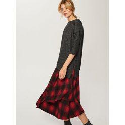 Asymetryczny sweter - Szary. Szare swetry klasyczne męskie Reserved, l. W wyprzedaży za 39,99 zł.