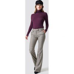 Spodnie z wysokim stanem: MANGO Spodnie Peonia - Brown,Beige