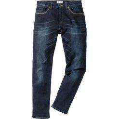 """Dżinsy ze stretchem Slim Fit Straight bonprix ciemnoniebieski """"used"""". Niebieskie rurki męskie marki bonprix, z jeansu. Za 109,99 zł."""