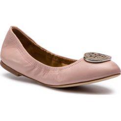 Baleriny TORY BURCH - Liana Ballet Flat 46084 Pink 654. Czerwone baleriny damskie Tory Burch, ze skóry, na płaskiej podeszwie. Za 1229,00 zł.