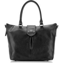 Torebka damska 87-4E-206-1. Czarne torebki klasyczne damskie Wittchen, w paski. Za 449,00 zł.