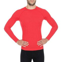 Koszulki sportowe męskie: Brubeck Koszulka męska z długim rękawem Active Wool czerwona r. XXL (LS12820)