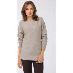 Swetry klasyczne damskie: Sweter z połyskującą nitką