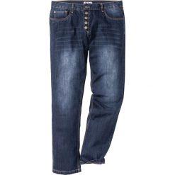 Jeansy męskie regular: Dżinsy z widocznymi guzikami rozporka Regular Fit Straight bonprix ciemnoniebieski