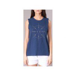 Topy na ramiączkach / T-shirty bez rękawów Roxy  TIME FOR AN OTHER YEAR. Niebieskie topy damskie marki Roxy, xs. Za 87,20 zł.