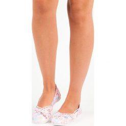 Baleriny damskie: Koronkowe baleriny boho REBECCA różowe