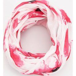 Szaliki damskie: Wzorzysty komin – Różowy