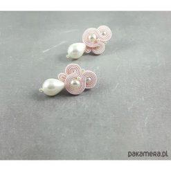Kolczyki damskie: Lady Stuart - Ślubne kolczyki sutasz z perłami
