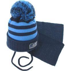 Czapka dziecięca z szalikiem CZ+S 035C niebieska r. 46-50. Niebieskie czapeczki niemowlęce Proman. Za 47,21 zł.