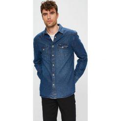 Wrangler - Koszula. Szare koszule męskie jeansowe Wrangler, l, z klasycznym kołnierzykiem, z długim rękawem. Za 259,90 zł.
