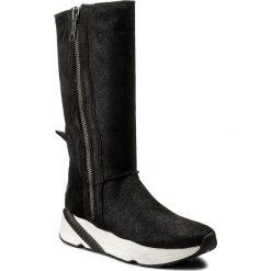Kozaki CALVIN KLEIN JEANS - Penny R0631 Anthracite. Czarne buty zimowe damskie Calvin Klein Jeans, z jeansu, przed kolano, na wysokim obcasie. W wyprzedaży za 459,00 zł.
