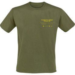 Twenty One Pilots Vulture Box T-Shirt oliwkowy. Zielone t-shirty męskie z nadrukiem marki QUECHUA, m, z elastanu. Za 79,90 zł.