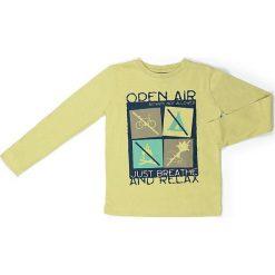 Koszulka w kolorze żółtym. Żółte t-shirty chłopięce z długim rękawem Street Monkey, z bawełny. W wyprzedaży za 39,95 zł.