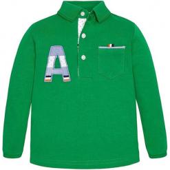 Koszulka polo w kolorze zielonym. Zielone t-shirty chłopięce z długim rękawem marki Mayoral. W wyprzedaży za 57,95 zł.