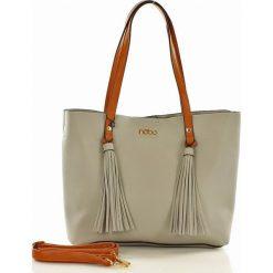 NOBO Miejski shopper bag szary. Szare shopper bag damskie marki Nobo, w paski, ze skóry, duże. Za 219,00 zł.