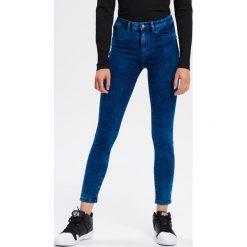 Jeansy SKINNY - Niebieski. Niebieskie jeansy męskie skinny Cropp. Za 119,99 zł.