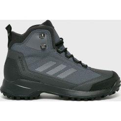 Adidas Performance - Buty Terrex Heron Mid. Szare buty trekkingowe męskie adidas Performance, z materiału, na sznurówki, outdoorowe. Za 599,90 zł.