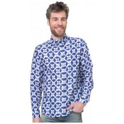 Desigual Koszula Męska Jose Maria Xl Niebieski. Brązowe koszule męskie marki Desigual, w paski, z materiału. W wyprzedaży za 238,00 zł.