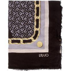 Chusty damskie: Chusta LIU JO – Foulard Logo Col.Bl A18245 T0300 Nero 22222