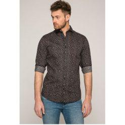 Selected - Koszula. Szare koszule męskie na spinki marki S.Oliver, l, z bawełny, z włoskim kołnierzykiem, z długim rękawem. W wyprzedaży za 129,90 zł.
