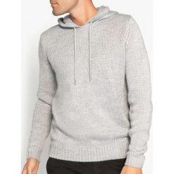 Kardigany męskie: Sweter z kapturem z dzianiny o grubym splocie