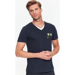 T-SHIRT KRÓTKI RĘKAW MĘSKI. Czarne t-shirty męskie marki Top Secret, na jesień, m. Za 19,99 zł.