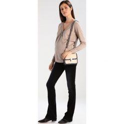 Boyfriendy damskie: Slacks & Co. Jeansy Bootcut black faded