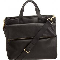 """Skórzana torba """"Kimo 5"""" w kolorze czarnym na laptopa - 40 x 28 x 6 cm. Czarne torby na laptopa BREE, w paski, z materiału. W wyprzedaży za 1182,95 zł."""