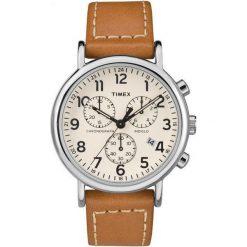Zegarek Timex Męski TW2R42700 Weekender Chrono Indiglo brązowy. Brązowe zegarki męskie Timex. Za 437,04 zł.